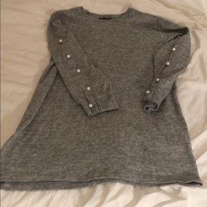 Zara Long Sweater/Sweater Dress w Pearls